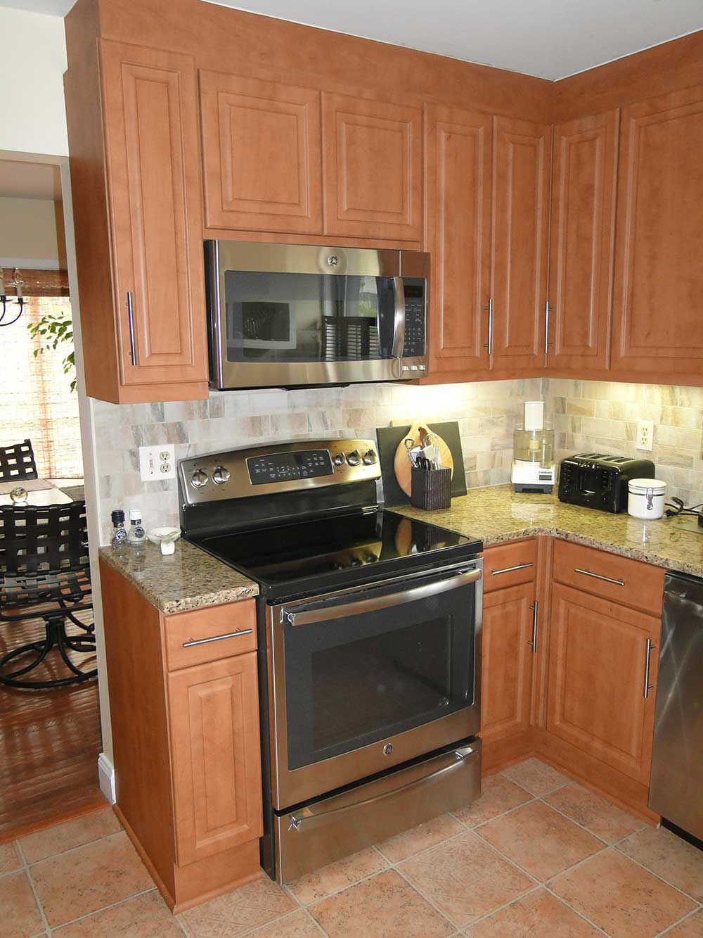 Cabinet Refacing With Countertops and Updated Appliances
