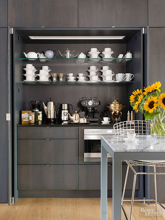 County view contracting coffee stations worthy of a for Coffee bar setup ideas